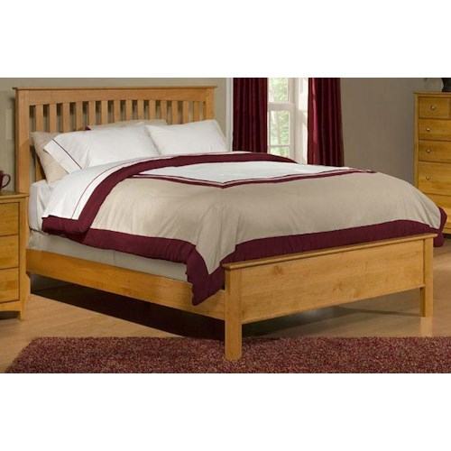 Archbold Furniture Custom Amish Queen Slat Bed