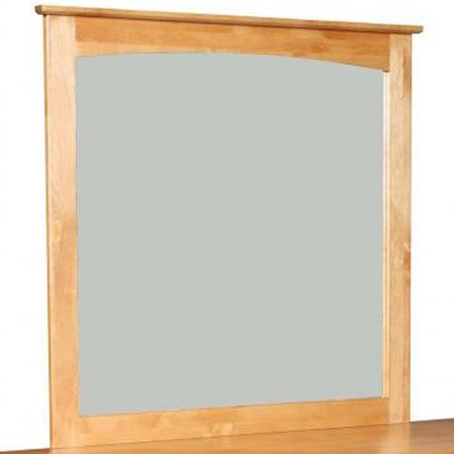 Vendor 980 Alder Shaker Mirror with Lightly Arched Accent