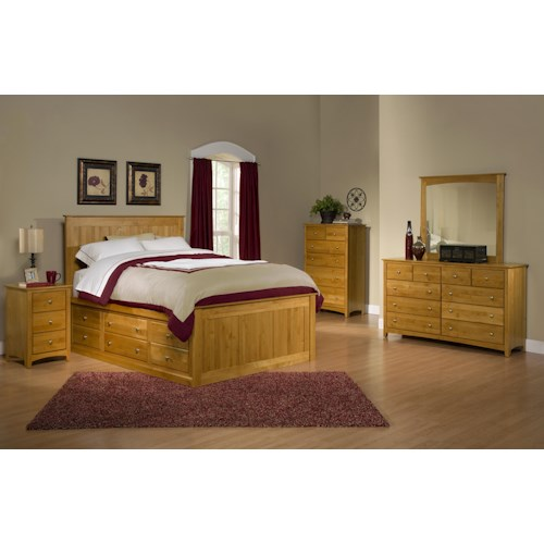 Archbold Furniture Alder Shaker Queen Bedroom Group 2