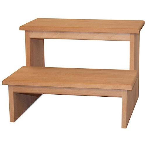 Archbold Furniture Alder Shaker 2 Step Stool