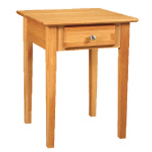 Archbold Furniture Alder Shaker End Table with Narrow and Tapered Block Legs