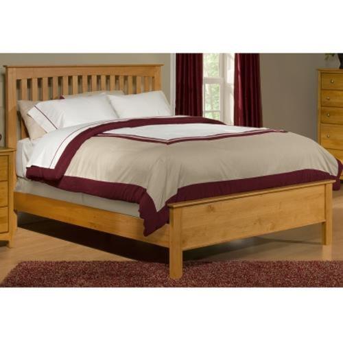 Archbold Furniture Alder Shaker King Slat Bed