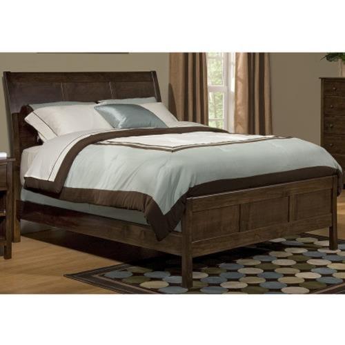 Archbold Furniture Alder Shaker King Sleigh Bed with Framing Details
