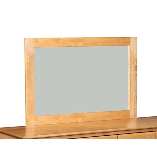 Archbold Furniture Alder Shaker Wood Framed Mirror