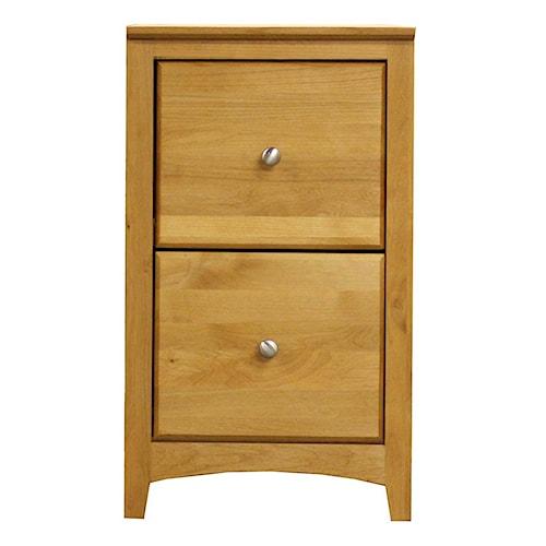 Archbold Furniture Alder Shaker American Made 2 Drawer File