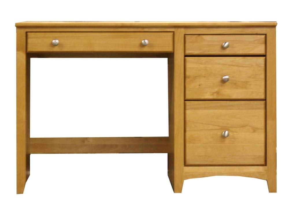 Archbold Furniture Alder Shaker Single Pedestal 4 Drawer