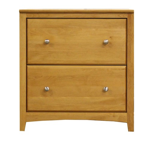 Archbold Furniture Alder Shaker 2 Drawer Lateral File Darvin Furniture Lateral File