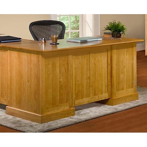 Archbold Furniture Alder Shaker American Made Desk for Return