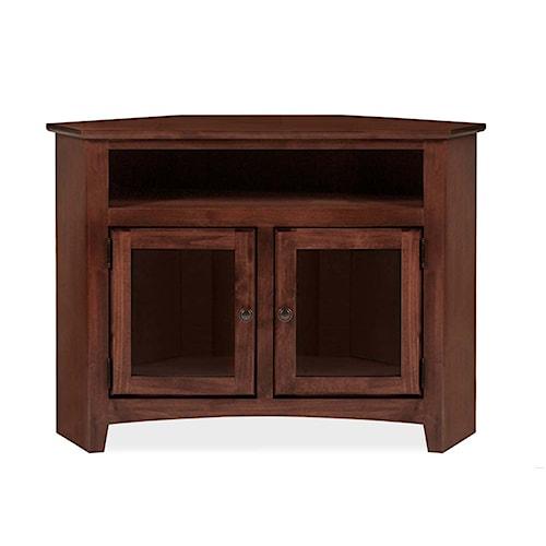 Archbold Furniture Alder Shaker American Made Corner TV Console