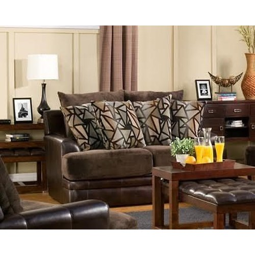 Del Sol Exclusive Balboa Collection Upholstered Stationary Love seat