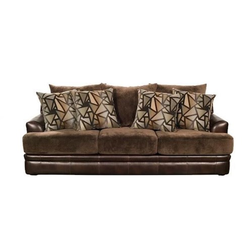 Del Sol Exclusive Balboa Collection Upholstered Stationary Sofa