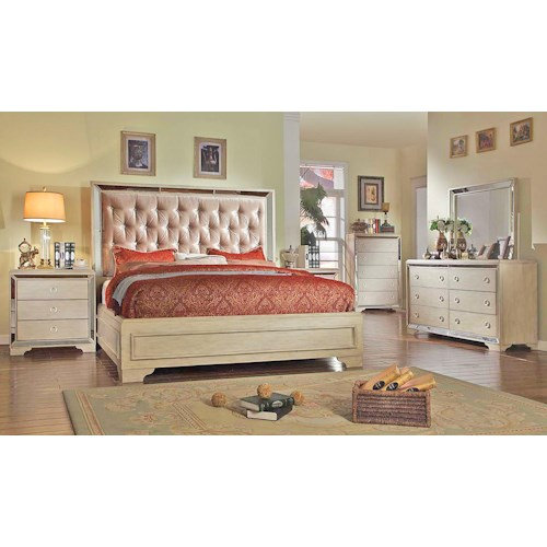 Del Sol Exclusive B9805 Queen Size Bedroom 4pc set