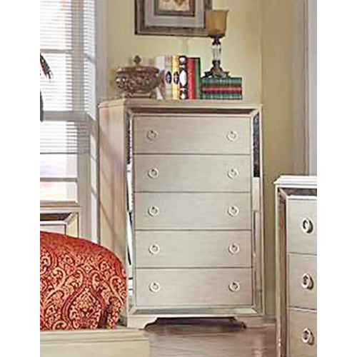 Del Sol Exclusive B9805 Chest of Drawers w/ Mirror Accents