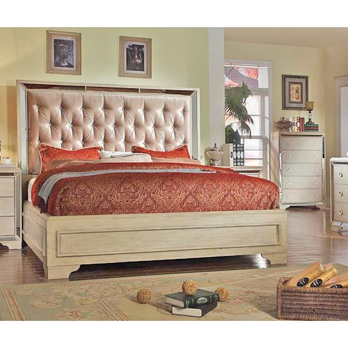 Del Sol Exclusive B9805 Eastern King Upholstered Bed