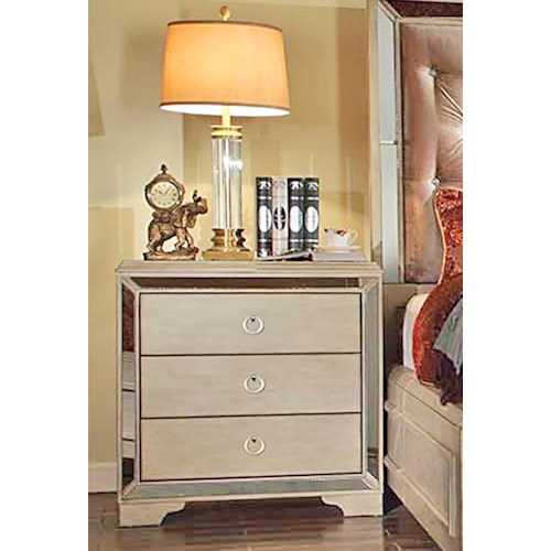 Del Sol Exclusive B9805 Night Stand w/ Mirror Accents
