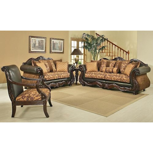 Del Sol Exclusive Eagle Eagle Sofa & Love Seat