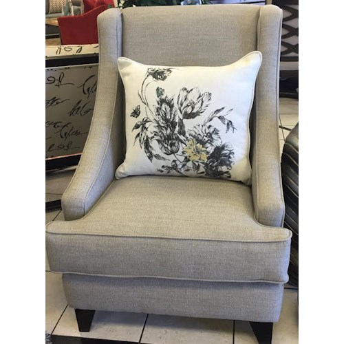 Del Sol Exclusive Florentine-Mink Accent wing chair