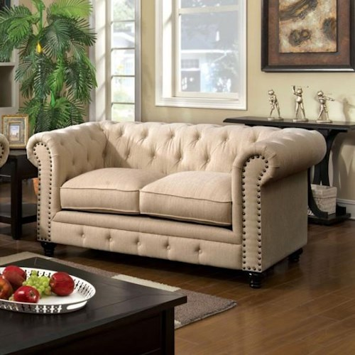 Furniture of America / Import Direct Stanford Stanford Ivory Love Seat