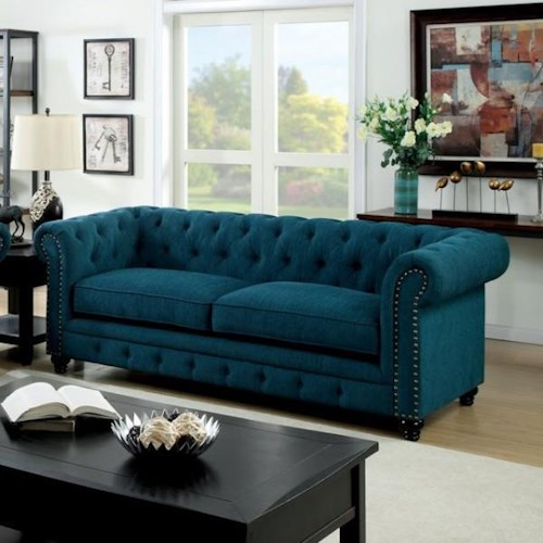 Furniture of America / Import Direct Stanford Stanford Teal Sofa