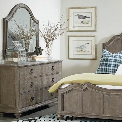 A.R.T. Furniture Inc Allie Solid Pine Dresser & Mirror
