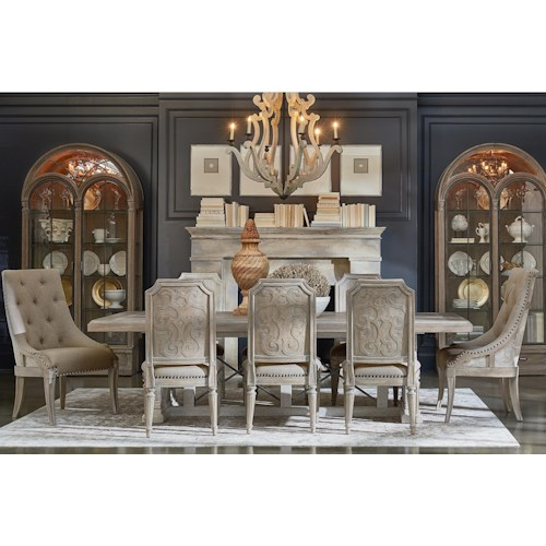 A.R.T. Furniture Inc Arch Salvage 9-Piece Pearce Dining Table Set