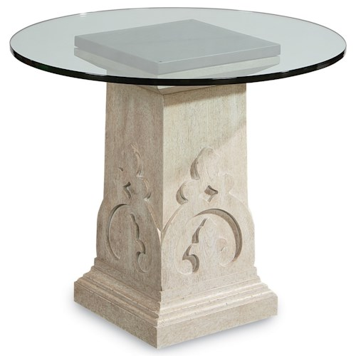 A.R.T. Furniture Inc Arch Salvage Keyes Martini Table with Glass Top