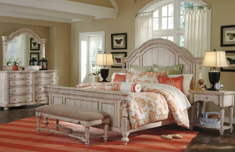 Shown with Dresser, Mirror, Bench, and Open Nightstand