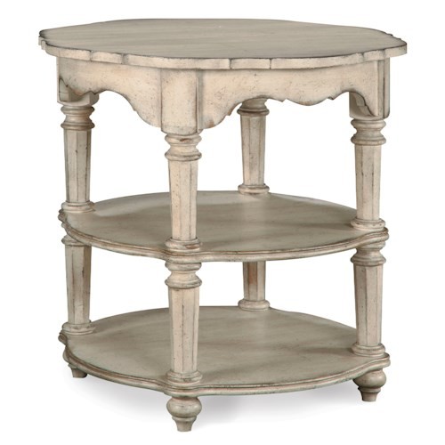 Belfort Signature Farrington Lamp Table with 2 Shelves