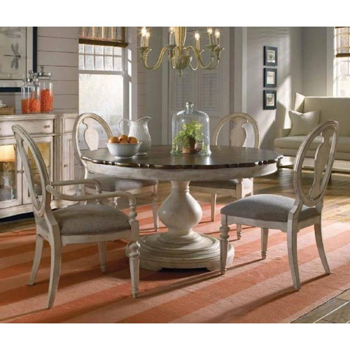 Belfort Signature Farrington 5-Piece Round Dining Table Set