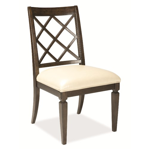 A.R.T. Furniture Inc Classics Lattice-Back Side Chair with Leather Upholstery