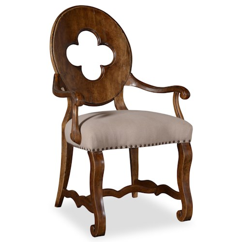 A.R.T. Furniture Inc Collection One Traditional Drake Arm Chair with Cut Out Back Detail