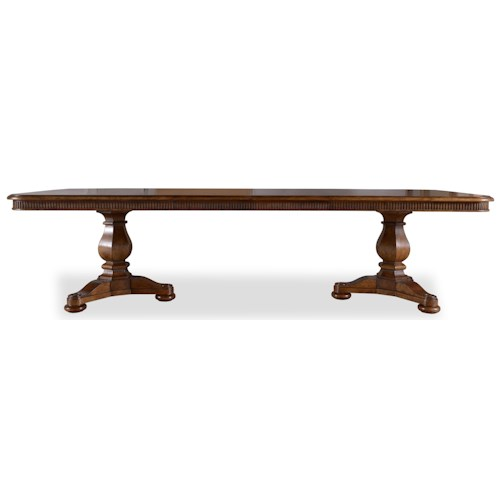 A.R.T. Furniture Inc Collection One Harvest Dining Table with Double Pedestal Base & Two Leaves