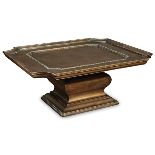 A.R.T. Furniture Inc Continental Square Cocktail Table in Cracked Bronze Finish