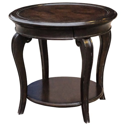 A.R.T. Furniture Inc Continental Round Lamp Table with Hidden Drawer
