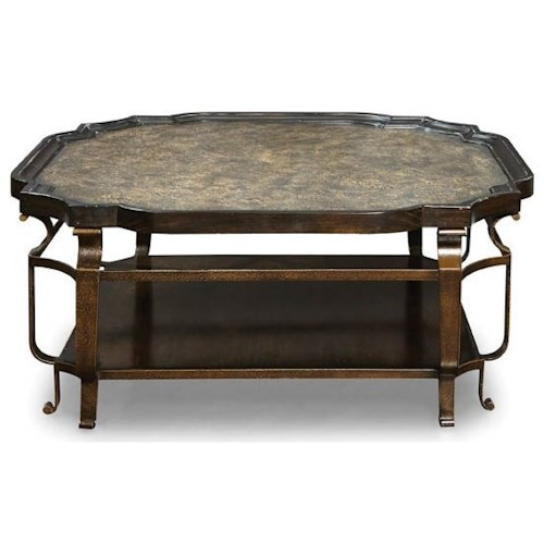 A.R.T. Furniture Inc Continental Square Cocktail Table with Metal Frame and Metal Insert Top