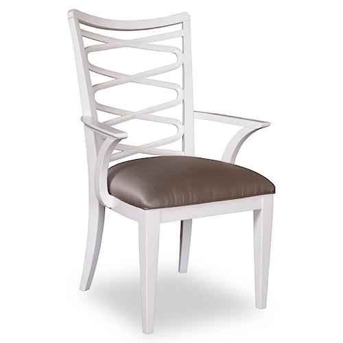 Belfort Signature Magellan Contemporary Ribbon-Back Arm Chair