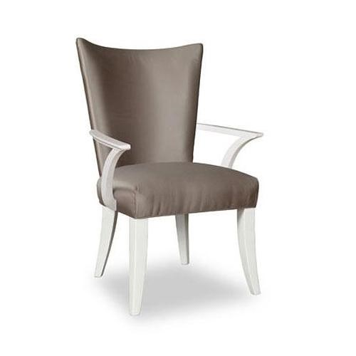 Belfort Signature Magellan Contemporary Upholstered Arm Chair with Angled Arms and Nailhead Trim