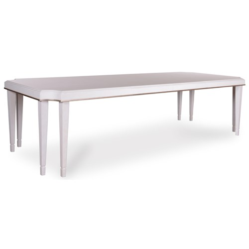 Belfort Signature Magellan Leg Dining Table with Double Table Legs and Two 22