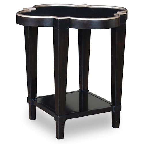 A.R.T. Furniture Inc Cosmopolitan Shaped End Table with Quatrefoil Shape Top