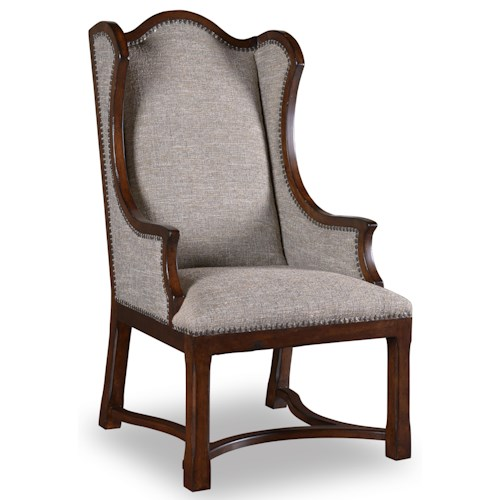 A.R.T. Furniture Inc Egerton Wing Back Upholstered Arm Chair with Nailhead Trim