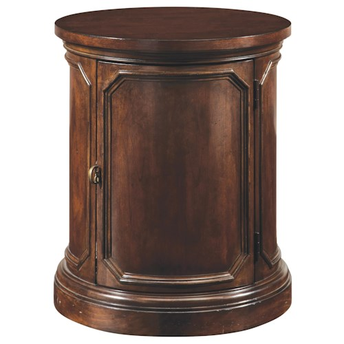 Belfort Signature Edwards Ferry Traditional Drum Style Round Lamp Table