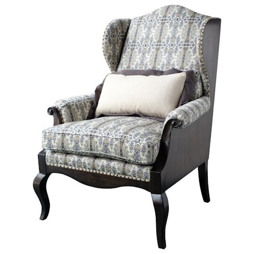 A.R.T. Furniture Inc Empyrean Sky Traditional Exposed Wood Wing Chair
