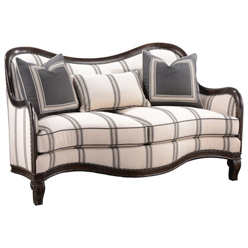 A.R.T. Furniture Inc Empyrean Sky Traditional Carved Frame Loveseat