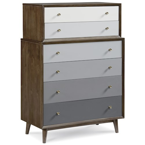 A.R.T. Furniture Inc Epicenters Silver Lake Drawer Chest with Ombre Drawer Fronts