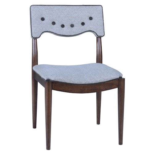 A.R.T. Furniture Inc Epicenters Mid-Century Modern Silver Lake Upholstered Back Side Chair