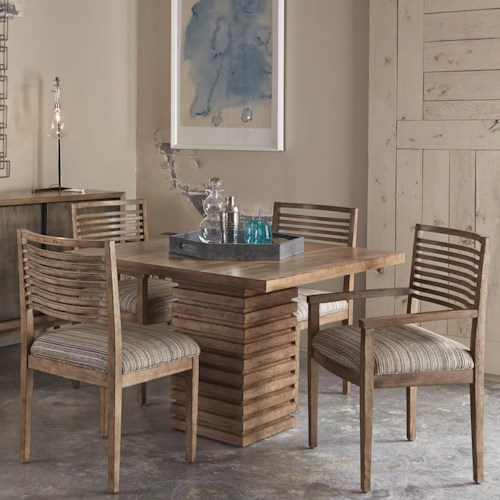 A.R.T. Furniture Inc Epicenters 5-Piece Williamsburg Pedestal Dining Table Set