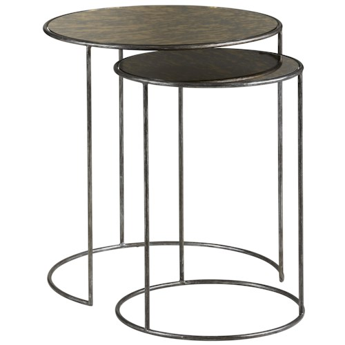 Belfort Signature Urban Treasures Shaw Nesting Tables with Antique Mirror Tops