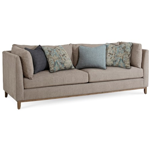 A.R.T. Furniture Inc Epicenters Contemporary Chaplin Sofa with Tuxedo Arms