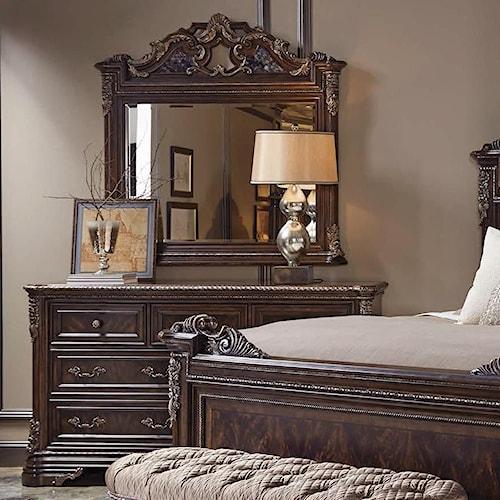 A.R.T. Furniture Inc Gables Dresser & Estate Landscape Mirror
