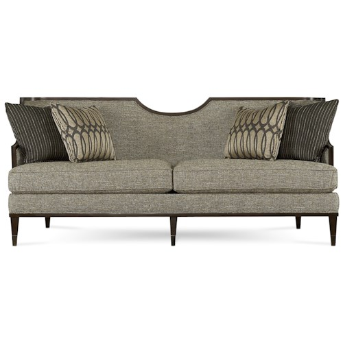 A.R.T. Furniture Inc Intrigue Harper - Mineral Transitional Sofa with Exposed Wood Frame